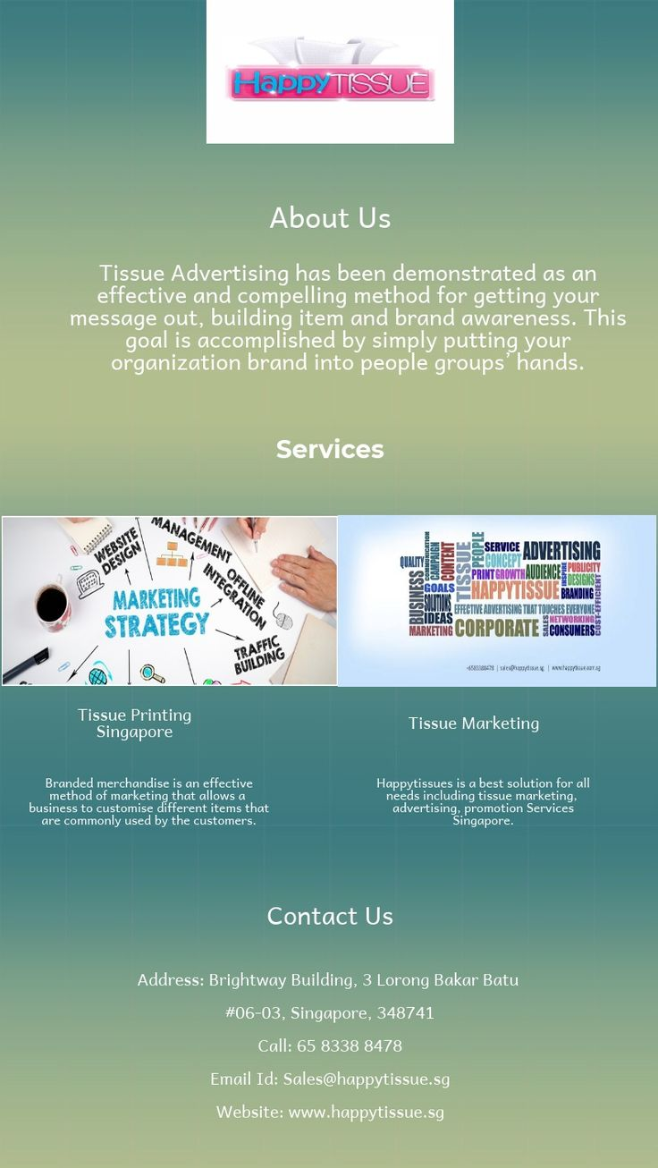 Happy tissues is a one stop solution for all advertising needs including Cardboard ,Tissue Branding, Promotion, Flyer Distribution Services Singapore.