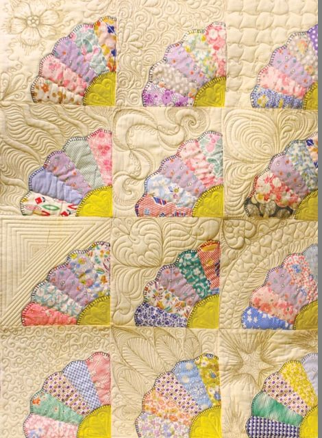 Twelve ways to quilt a Dresden Plate fan. Quilt class by Linda V. Taylor | Road…