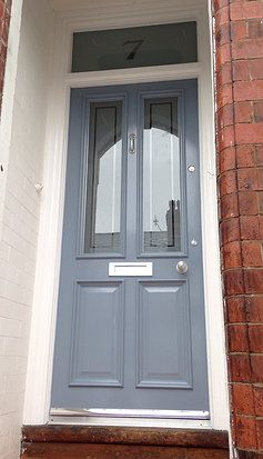 Vickiu0027s u0027RAF Blueu0027 Grand Victorian front door with Etched glazing in Timperley -  & 66 best The Grand Victorian images on Pinterest | Victorian front ...