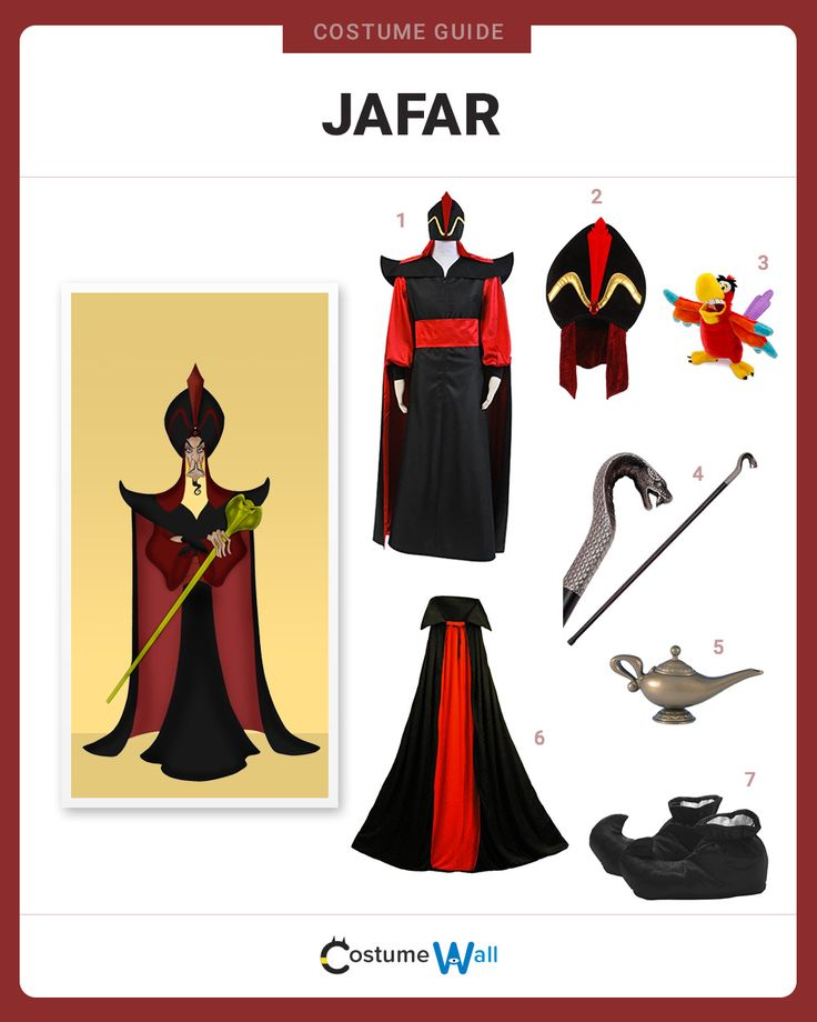 Transform yourself into Jafar, the wicked Royal Vizier to Sultan of Agrabah in the 1992 Disney animated film Aladdin.