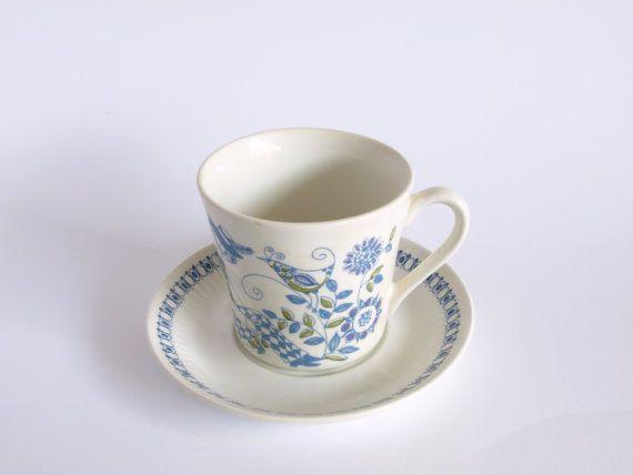 Figgjo Lotte Scandinavian Tea Cup and Saucer  Made by FunkyKoala