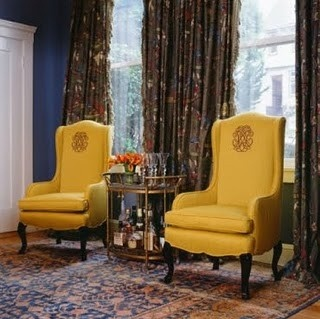 .: Monograms Chairs, Living Rooms, Wings Chairs, Vintage Bar Carts, Google Images, Dinning Rooms, Design Idea, Wingback Chairs, Monograms Wings