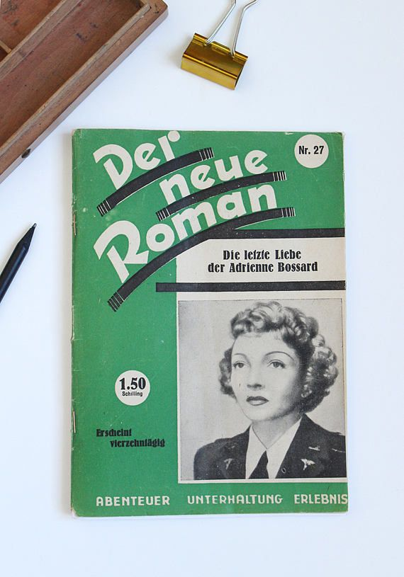 vintage Notizheft aus altem Buch upcycling Notizheft