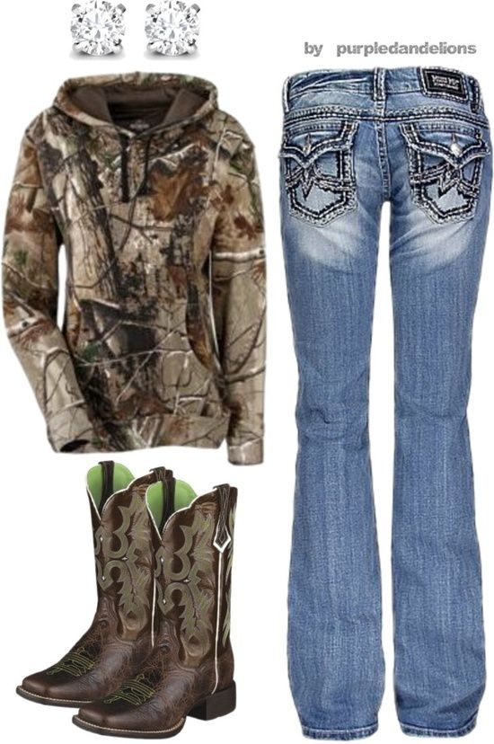 This is completely my style.. camo, Miss Me's, and some boots!! Love love love! 100% country girl<3