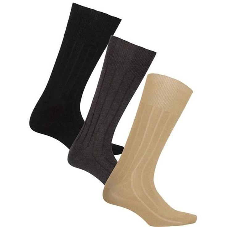 Men's Multi-Color 3pk Diabetic Socks