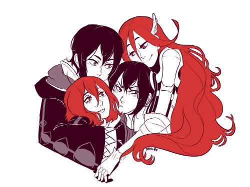 Fire Emblem Awakening - Robin x Cordelia family <3