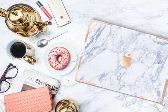 """""""Makrana White Marble with Rose Gold Accents Hybrid by Cliqueshops"""" Rose gold? YES!"""