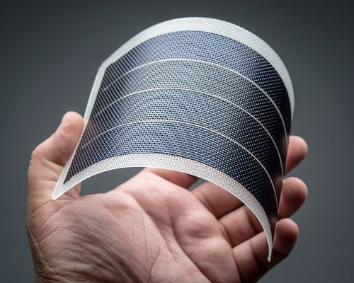 Bendy solar panel products. http://solar-panels-for-your-home.co/flexible-solar-panels.html Flexible 6V 1W Solar Panel