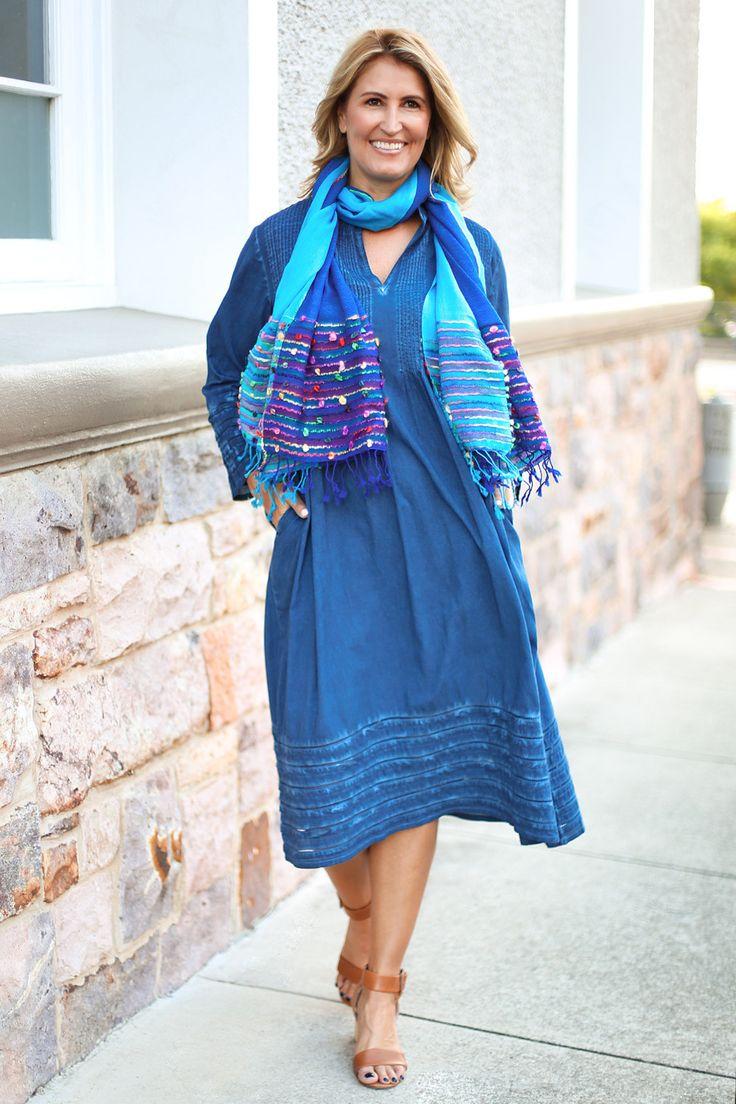Milana Dress in Indigo – Adrift Clothing