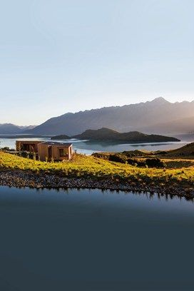 The spa terrace at Aro Ha, Glenorchy | Best hotels with a view in New Zealand (Condé Nast Traveller)