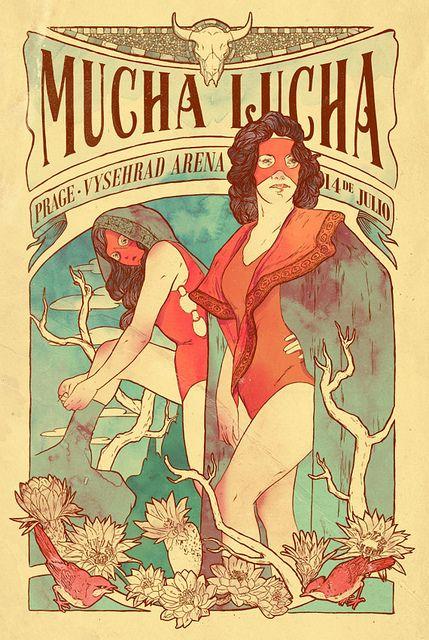 LUCHA LIBRE!: Graphic Design, Photos, Stuff, Illustrations, Wrestling, A Lot Of Fight, New Poster Art, Alphonse Mucha