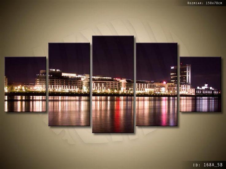 ArtGaleria Obraz drukowany tryptyk 150x70cm PŁÓTNO