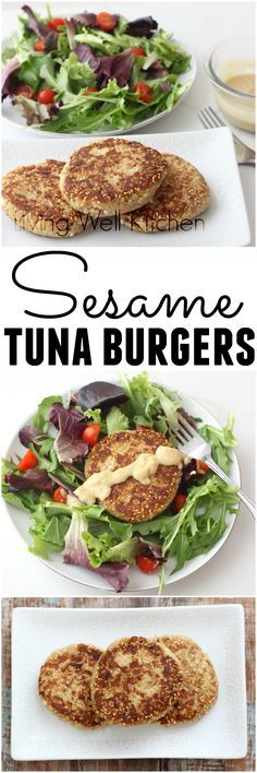 Sesame Tuna Burgers turn boring canned tuna into a delicious meal that nourishes your body from @memeinge