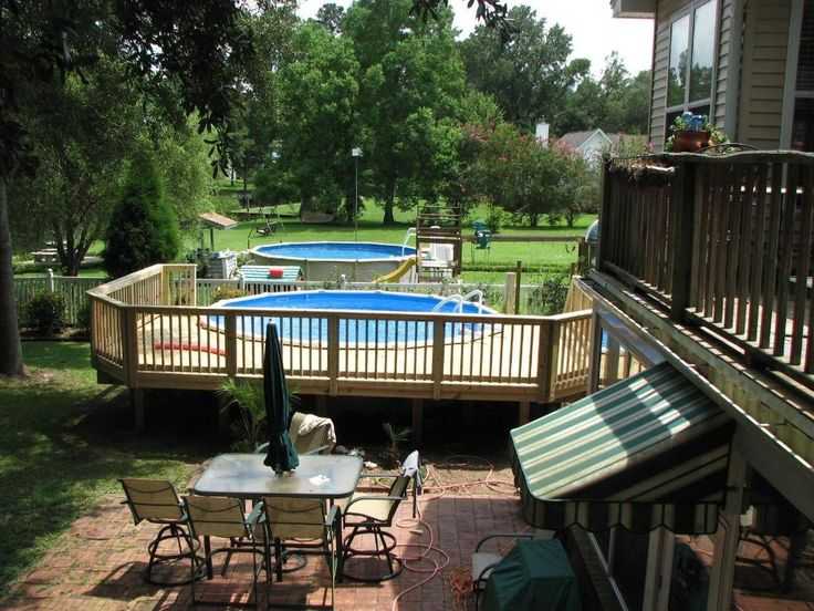 51 best images about patio designs on pinterest stone for Above ground pool decks tampa