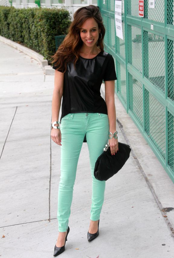 can't get enough of coloured skinnies