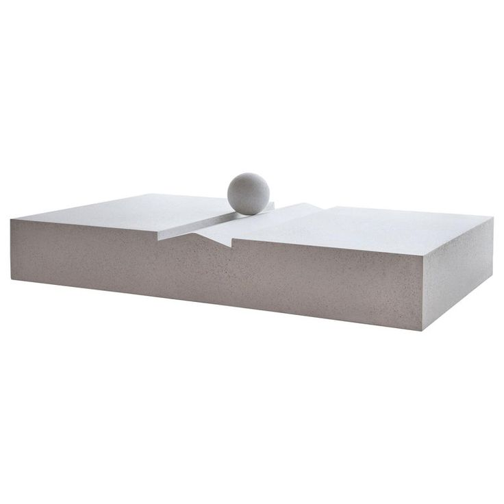 Mays Furniture: Outdoor Sunday Coffee Table In Whitestone Fiberglass By