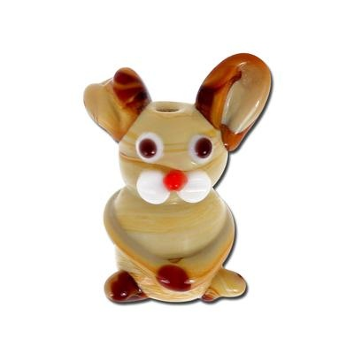 Funny Bunny Glass Lampwork Beads