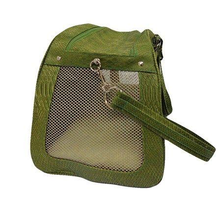 Bolsa Escama Peixe Verde São Pet - Bolsa Para Transporte em Escama de Peixe, a bolsa simula escamas de peixe, muito confortável e bonita para você andar sempre na moda com seu pet.  MeuAmigoPet.com.br #petshop #cachorro #cão #meuamigopet