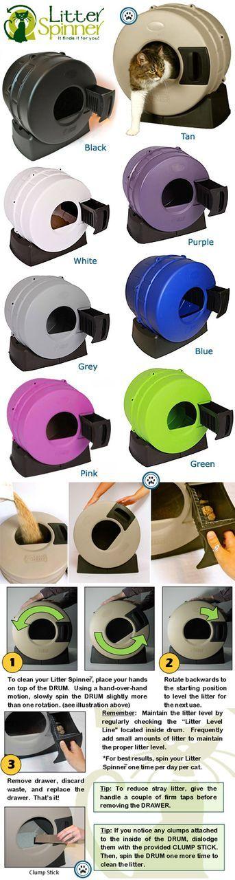 Litter Spinner Automatic Cat Litter Box - Puutty Power!