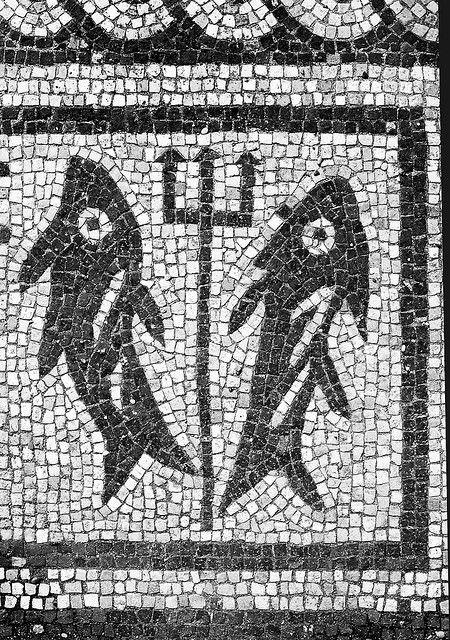 Ostia Antica: Fish and trident