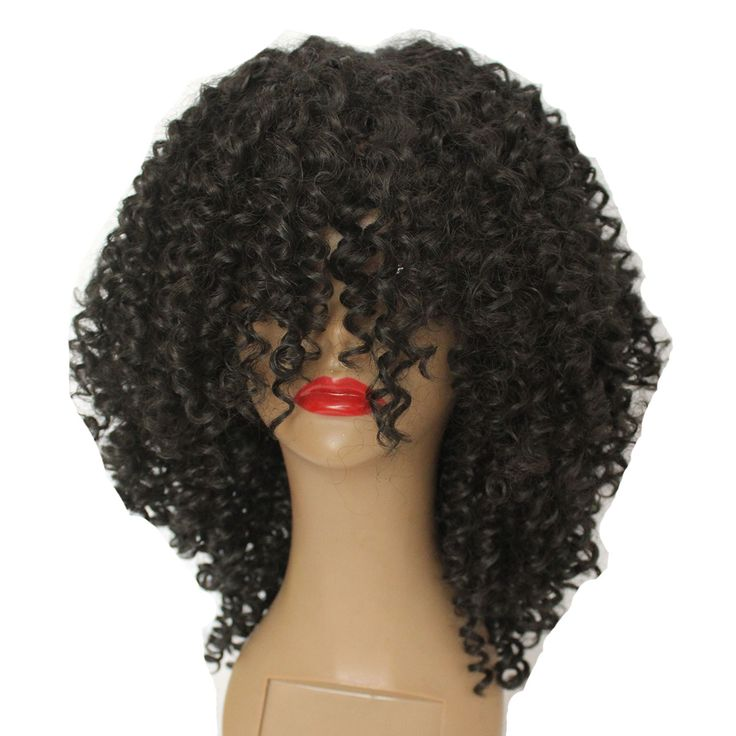 Vanessa Queen Afro Kinky Curly Synthetic Wigs For Black Women Heat Resistant Fiber Hair Wigs 14 Inch#synthetic lace front wig #wigs for black women #synthetic wigs #hair wig #kinky curly wig #lace wig #cheap wig #women's wigs #short wigs #lace front wig #wave wig #straight wig
