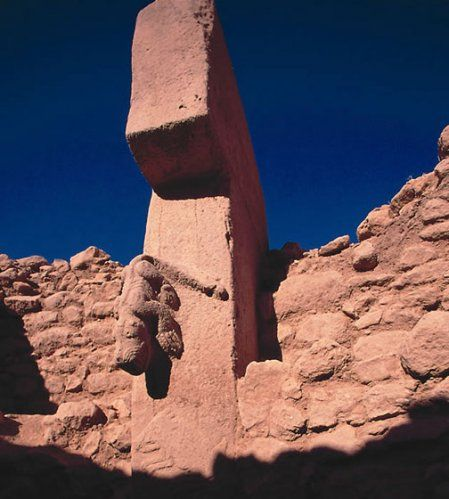 Göbeklitepe (Anatolia, Turkey) is the oldest human-made site of worship yet discovered. It is so old that it predates the history of settled human life. It is pre-pottery, pre-writing, pre-everything. The temple complex predates (9,000 years before) the Pyramids of Giza and (6,000 years before) Stonehenge.