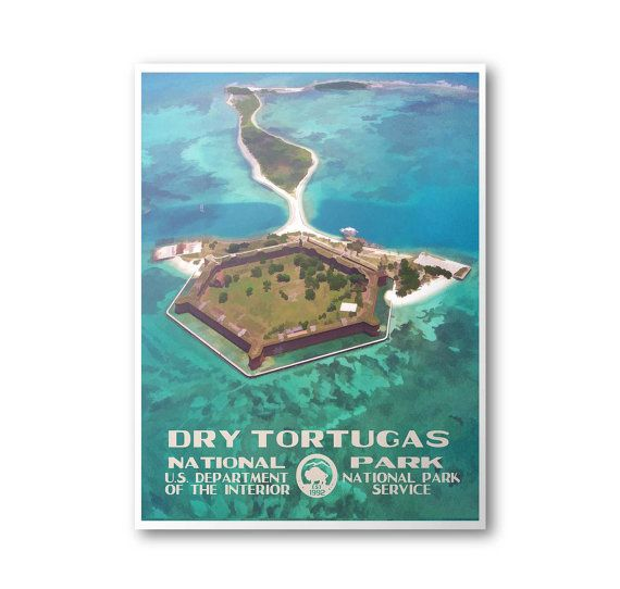 Dry Tortugas National Park Travel Poster