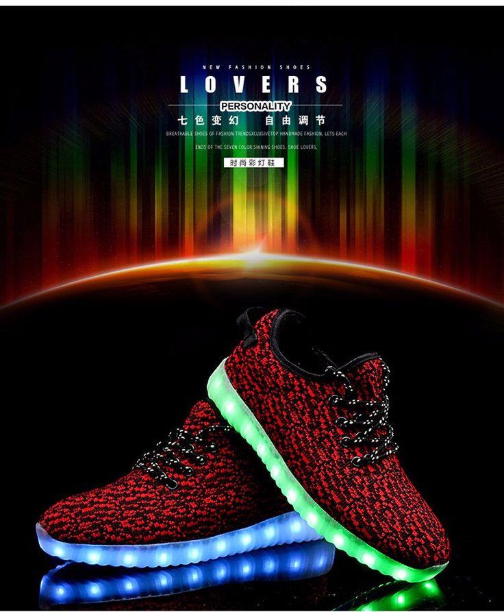 2016 новый 11 цветов световой унисекс из светодиодов свечения мужчины и женщины мода USB перезаряжаемые свет из светодиодов для взрослых из светодиодов обувь купить на AliExpress