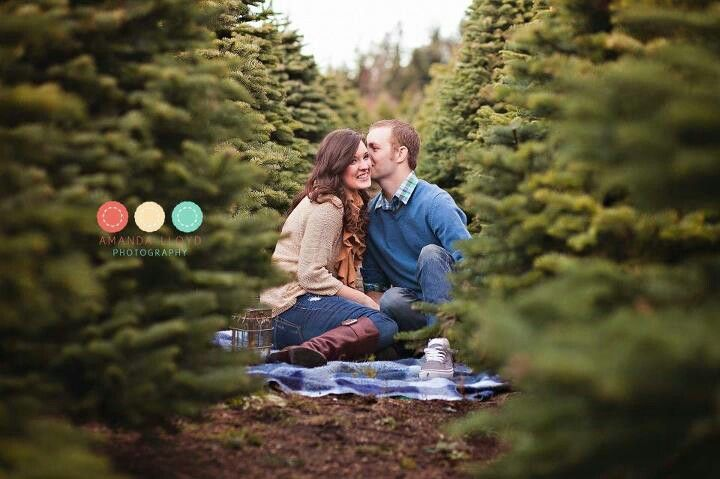 Imagine getting engaged on a Christmas tree farm and then cutting down your Christmas tree. What a wonderful yearly tradition this would start!