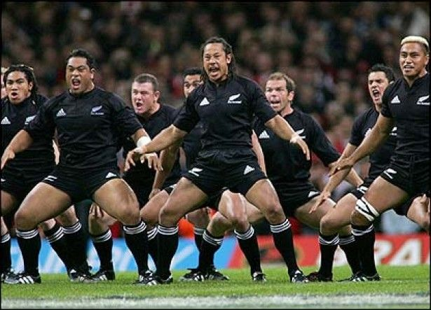A haka is a traditional Maori dance. Maori haka are performed for various reasons, such as celebrating an achievement, welcoming distinguished guests, or as a pre-battle challenge. Contrary to popular belief, a haka is not always a war dance, and may be performed by both men and women. The haka attained international fame as a result of the pre-game haka performed by New Zealand national sports teams, particularly the All Blacks rugby team.