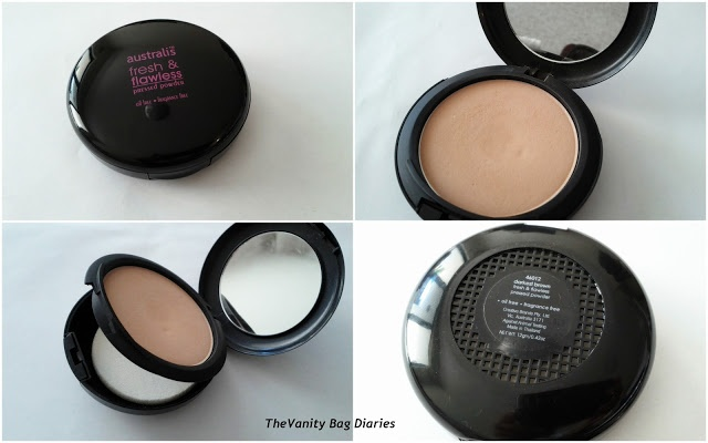 Today I am reviewing Australis 'Fresh and Flawless' pressed powder. Australis, as obviously the name suggests, is an Australian company which provides high quality affordable drugstore products.Australis 'Fresh and Flawless' pressed powder is a fine, oil free and fragrance free powder, perfect for