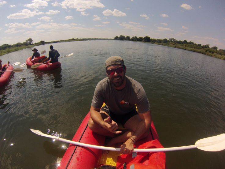 Kayaking down the Kavango River in Namibia!  Ngepi Camp  http://crossthatbox.com
