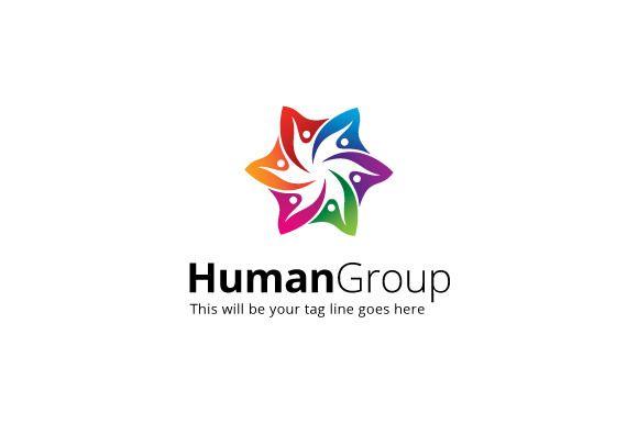 HumanGroup Logo Template by mudassir101 on Creative Market
