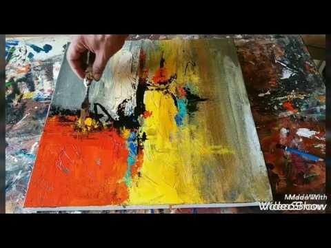 Быстрое написание картины в стиле абстрактной живописи - Digitalis - John Beckley - YouTube