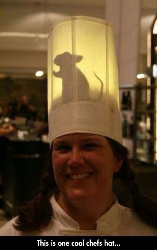 Awesome Chefs Hat  I have just discovered my costume for this year! This is brilliant!