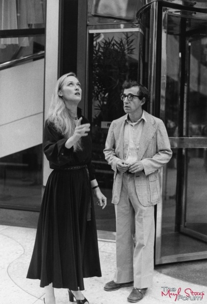 """With Woody Allen on the set of """"Manhattan"""" (1979)"""