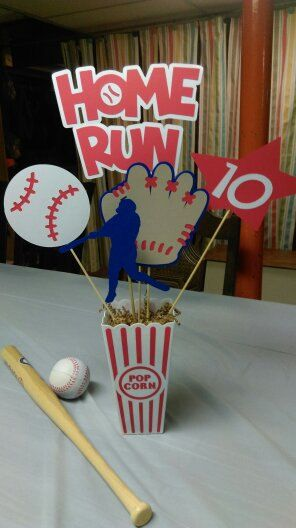 Baseball Centerpiece 1 Home Run Baseball by MyThreeSonsByKristin