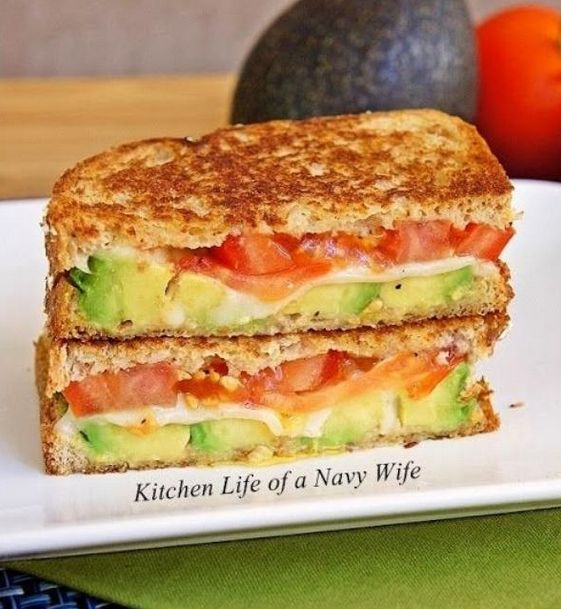 This super tomato, avocado, mozzarella grilled cheese sandwich is the perfect chilly day meal. Pair it with a bowl of warm soup or salad and you're all set! And if you're like me...I'm gonna add BACON!!