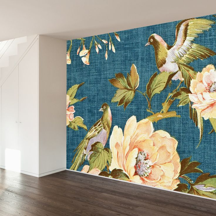 2323 best flowers images on pinterest art flowers for Aithihya mural painting fabrics