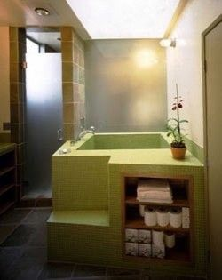 green bathtub/modern