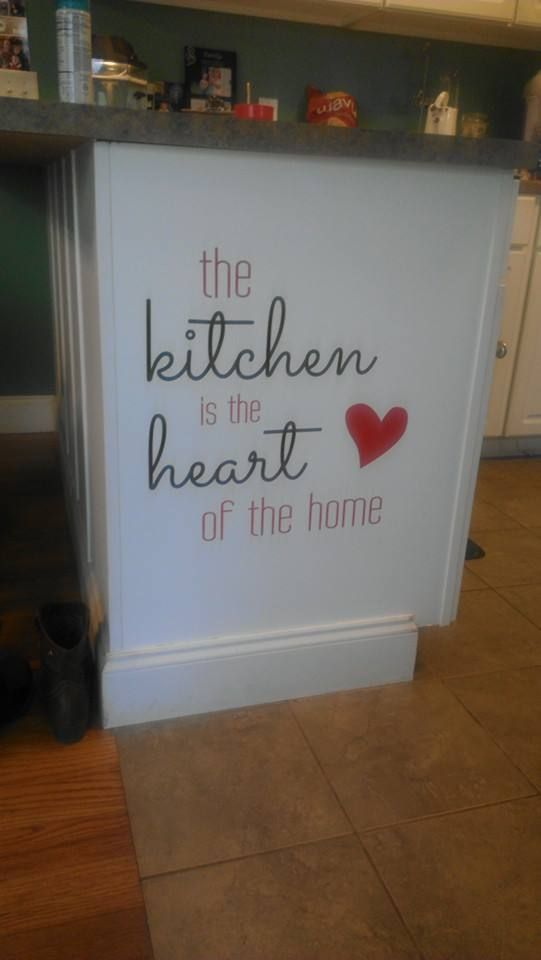 Love this expression!   Perfect idea at the end of the cabinet!!