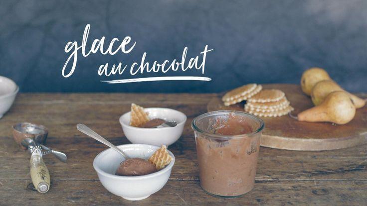 Glace au chocolat (sans œufs ni produits laitiers)