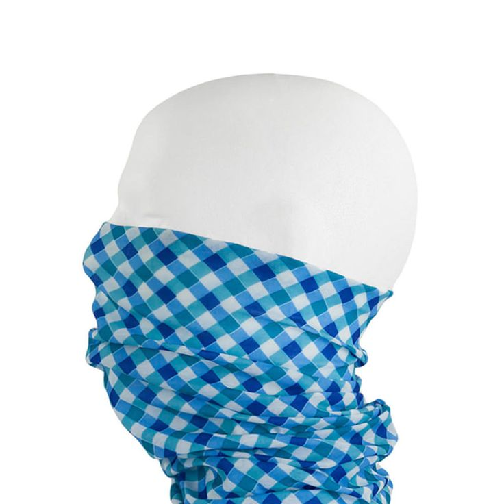 Multifunktionstuch / Schlauchtuch / Halstuch - Blue Squarys in Bekleidung Accessoire  • Schals & Tücher • Multifunktionstücher