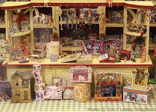 Winkel met papieren speelgoed