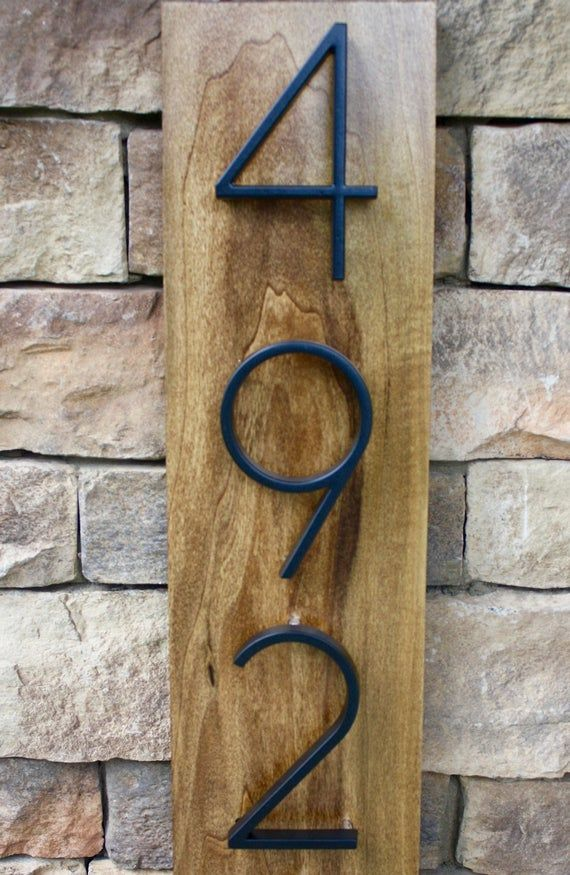 Check Out Our Modern Rustic Home Address Plaque Each Plaque Is
