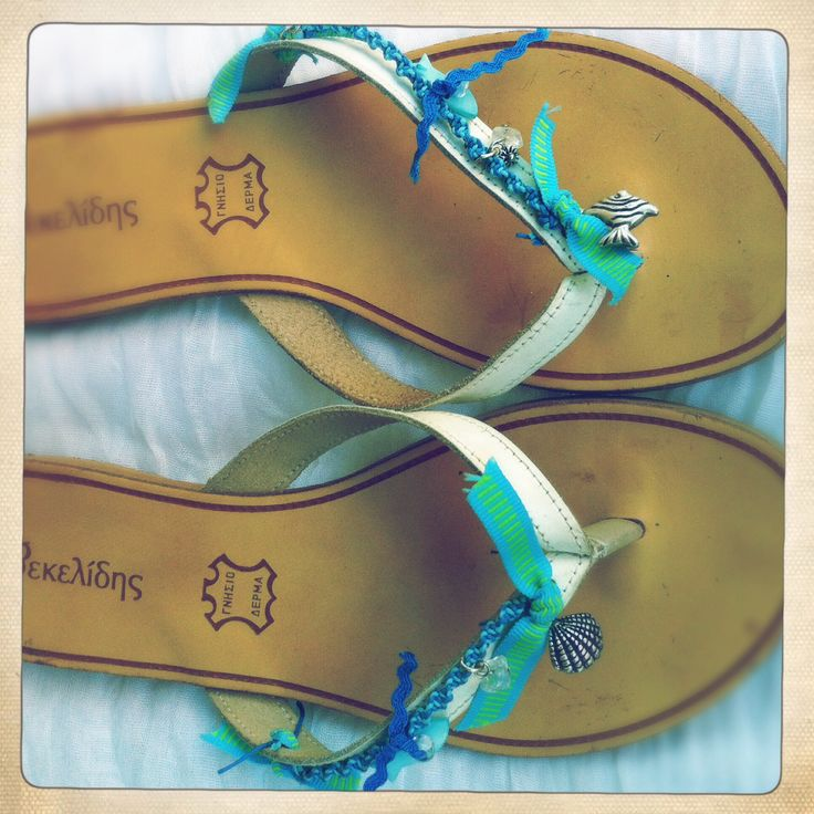 Leather sandal handmade by me.
