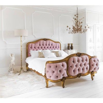 The Sacré Coeur Pink Velvet Bed
