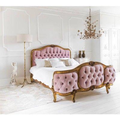 The Sacré Coeur Pink Velvet Bed