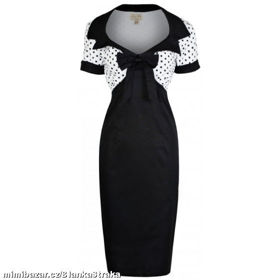 vintage black and white dress