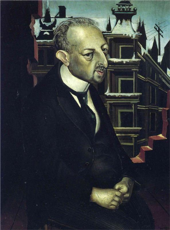Otto Dix (German 1891–1969) [Expressionism, Neue Sachlichkeit] Portrait of the Lawyer Dr. Fritz Glaser, 1921.